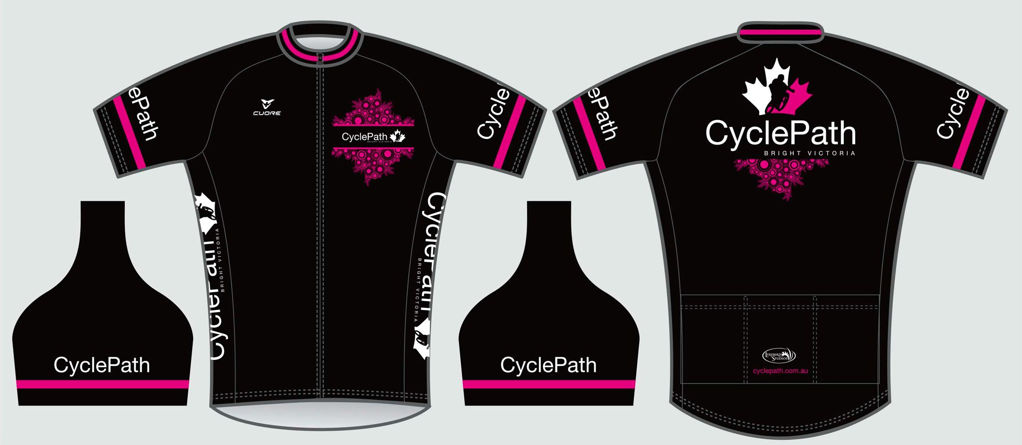 Another cycling jersey design for CyclePath, this time for the ladies.